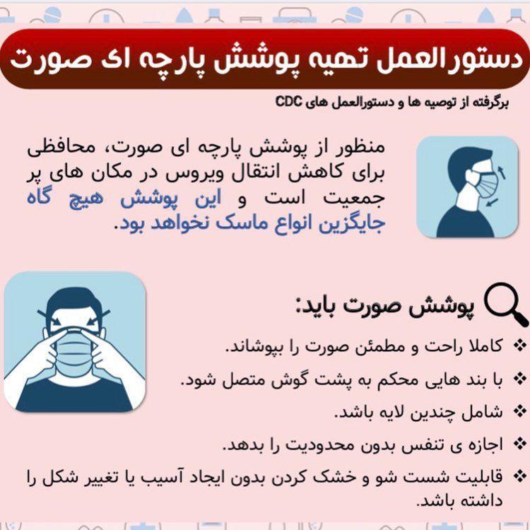 دستور العمل تهیه پوشش پاچه ای صورت